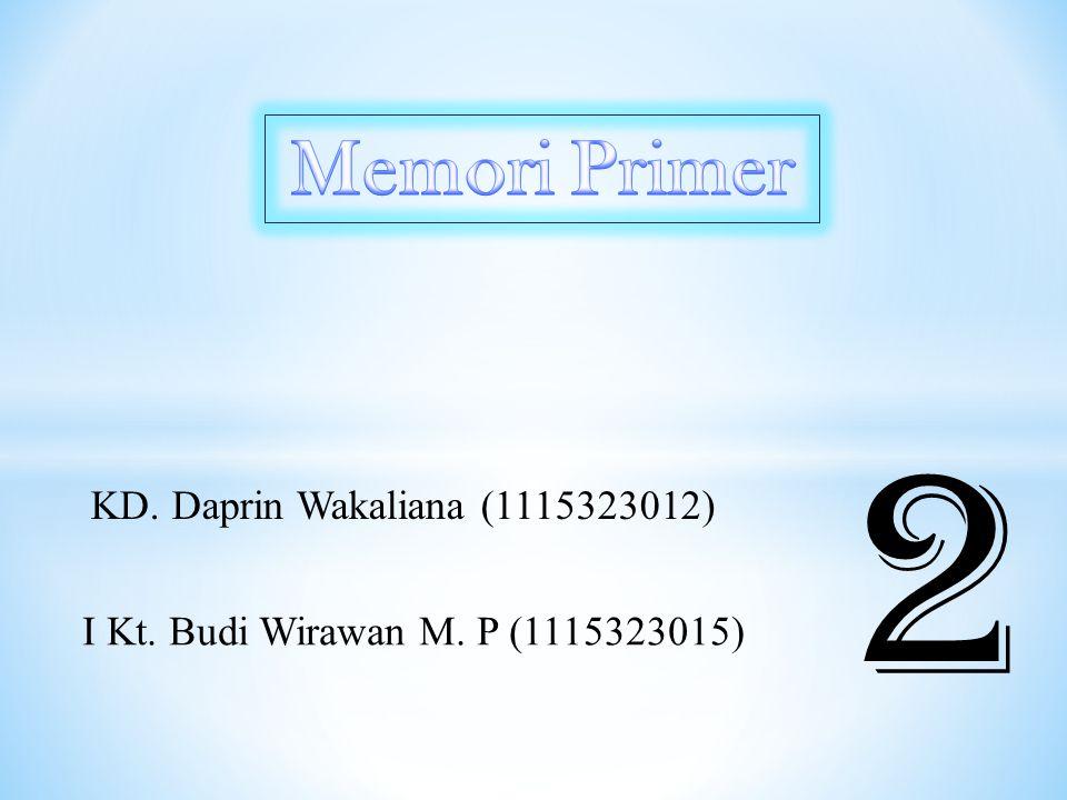 KD. Daprin Wakaliana (1115323012) I Kt. Budi Wirawan M. P (1115323015) 2