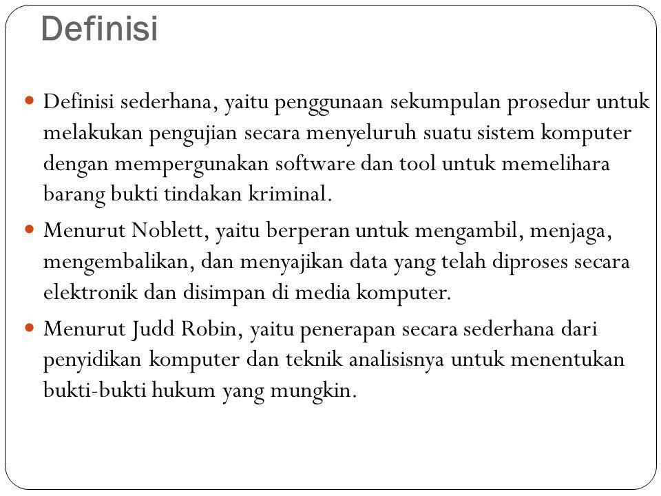 NIST NIST merupakan alat penguji komputer forensik (CFTT), maksud yang benar dari program ini adalah prespektif teknis.