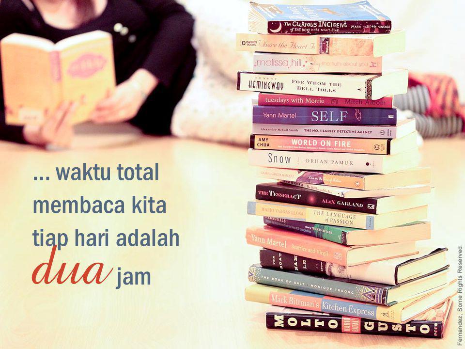 … waktu total membaca kita du a tiap hari adalah jam