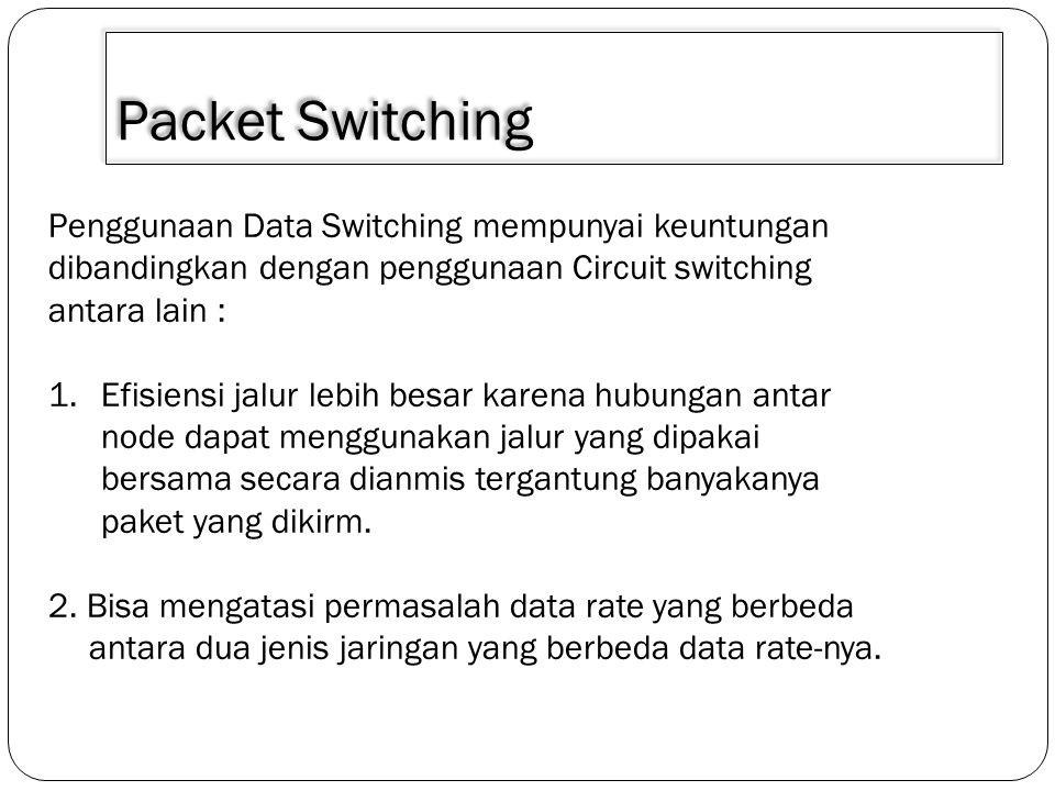 Packet Switching 3.