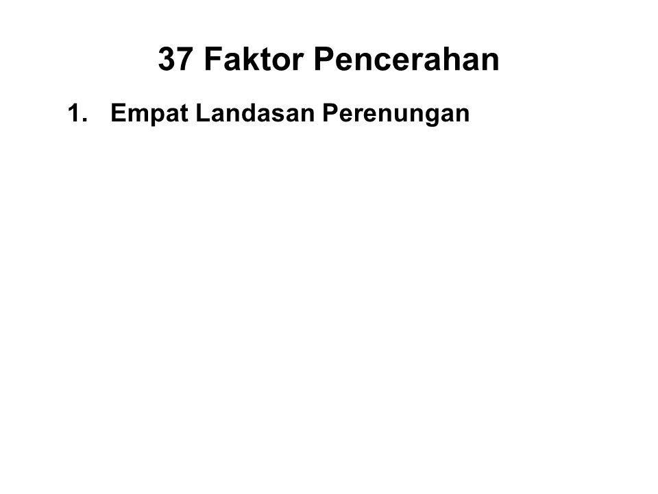 1.Empat Landasan Perenungan 2.Four Supreme Efforts 3.Four Means to Accomplishment 4.Five Faculties 5.Five Powers 6.Seven Factors of Enlightenment 7.Eight Path Factors