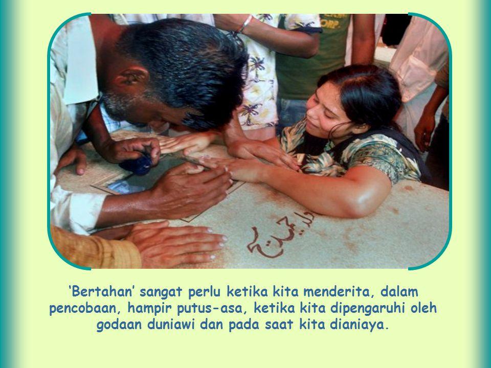 Jika anda seorang kristen, tidak cukup hanya dibaptis dan melakukan kegiatan rohani serta beberapa kegiatan sosial.