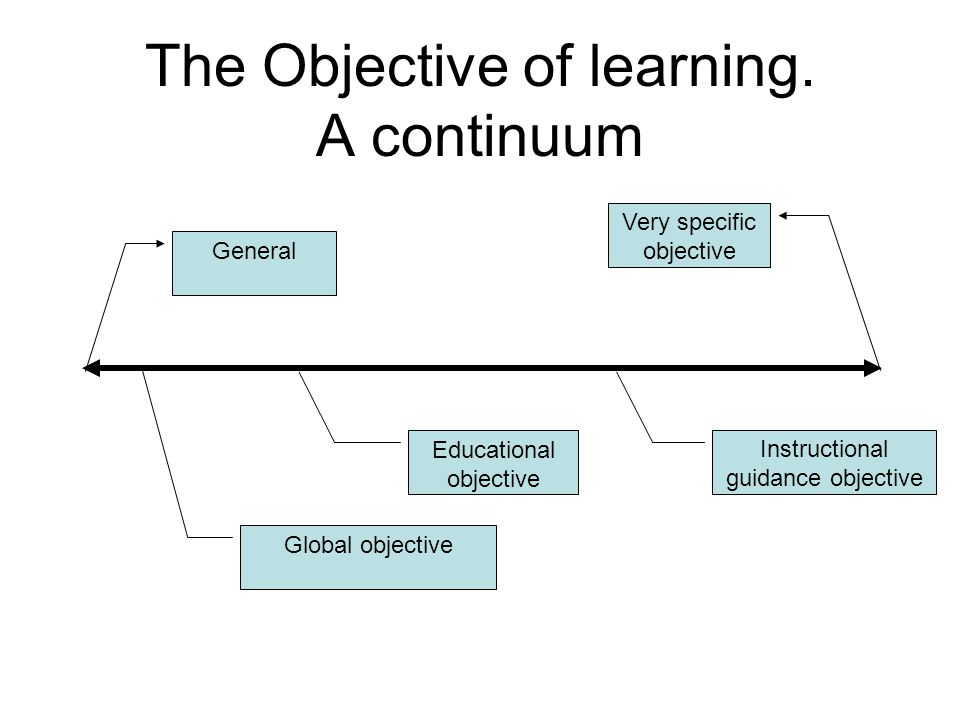 The Objective of learning.