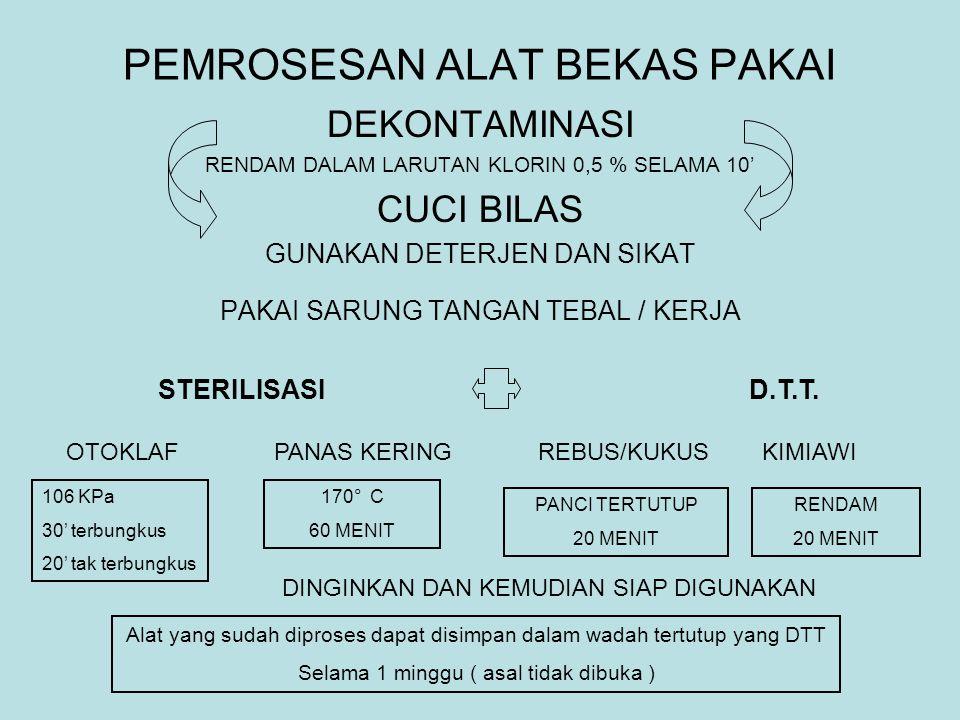 IBU, BAYI, PENOLONG AMAN GUNAKAN TEHNIK ASEPTIK PERLENGKAPAN PELINDUNG PRIBADI ANTISEPSIS JAGA TINGKAT STERILITAS / DTT