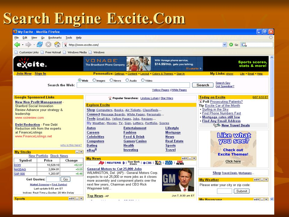 Search Engine Excite.Com