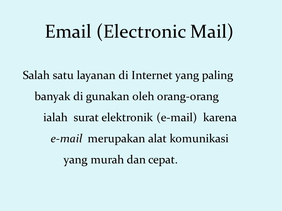 Menjawab E-mail (Reply) Setelah membaca e-mail, klik link Reply.