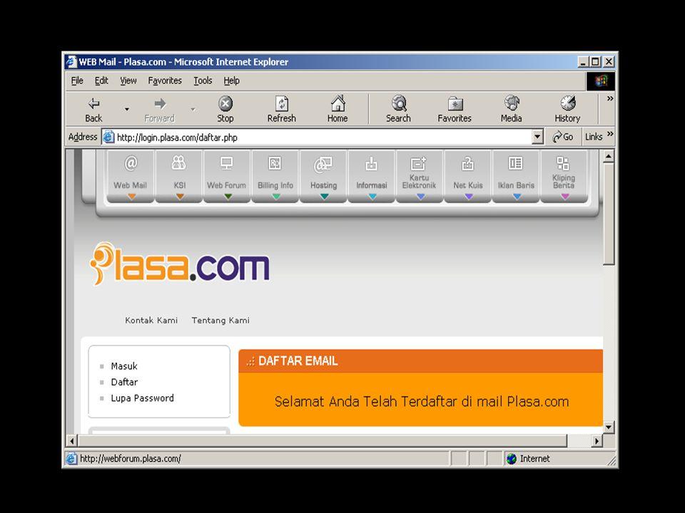 Langkah-langkah Membuka File Attachment : 1) Bukalah e-mail yang memuat file attachment.