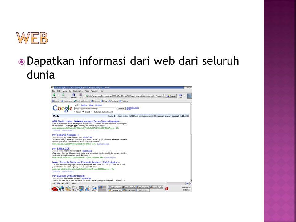  Dapatkan informasi dari web dari seluruh dunia