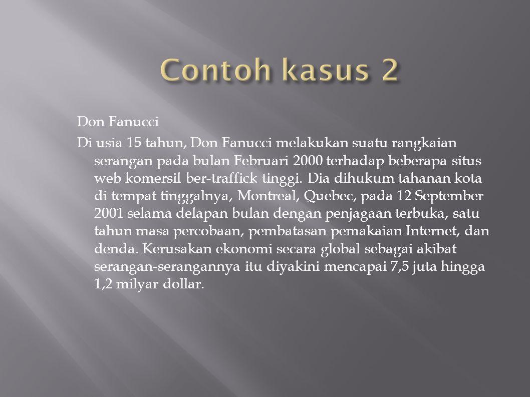 Don Fanucci Di usia 15 tahun, Don Fanucci melakukan suatu rangkaian serangan pada bulan Februari 2000 terhadap beberapa situs web komersil ber-traffic