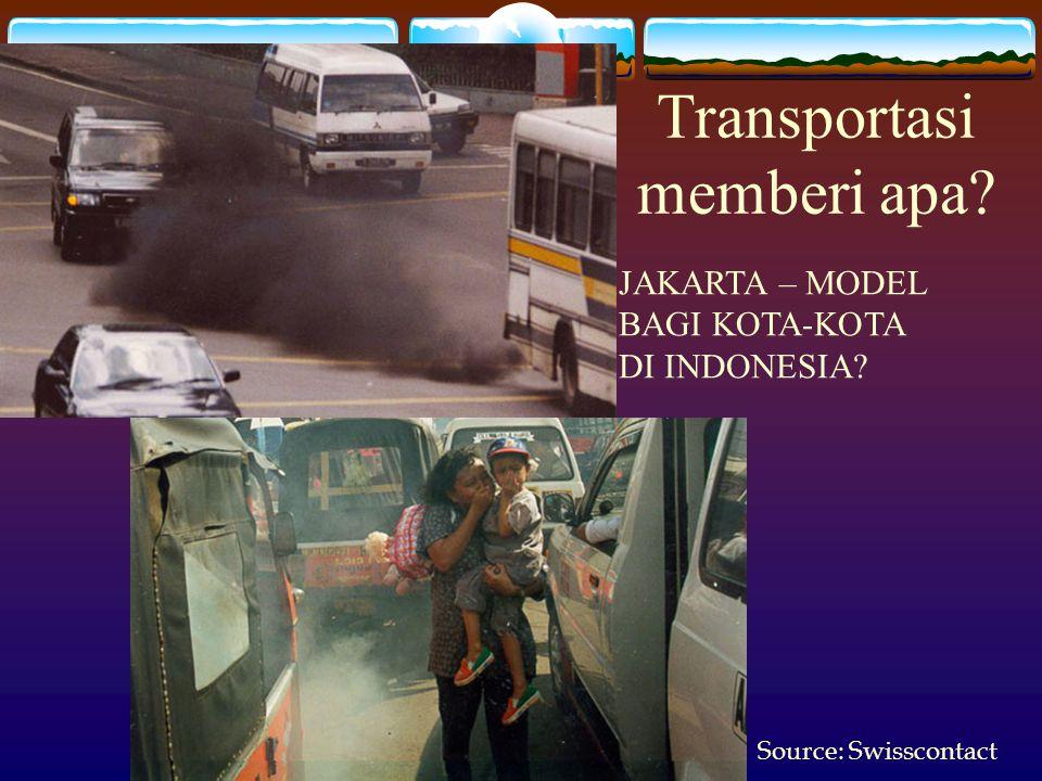 Source: Swisscontact JAKARTA – MODEL BAGI KOTA-KOTA DI INDONESIA? Transportasi memberi apa?