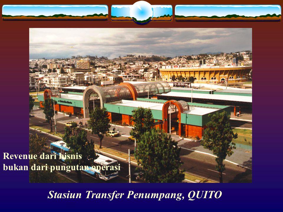 FOTO ESTACIÓN TROLEBÚS Stasiun Transfer Penumpang, QUITO Revenue dari bisnis bukan dari pungutan operasi