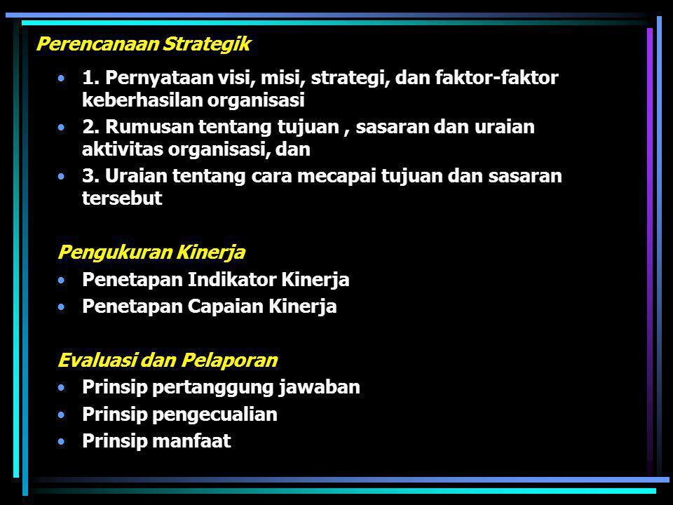Prinsip-prinsip Akuntabilitas a. Harus ada komitmen dari pimpinan dan seluruh staf instansi untuk melakukan pengolahan pelaksanaan misi agar akuntabel