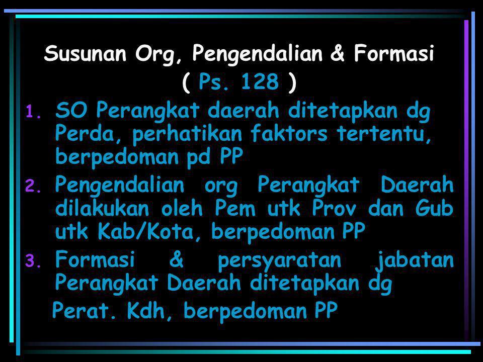 Unit Kerja & Pimpinan Tugas & Kewajiban Pengangkatan & Pemberhentian Pertg jawaban / Ketentuan LL KELLURAH{Ps.127(2)} Melaksanakan Pelimpahan dr Bup/W