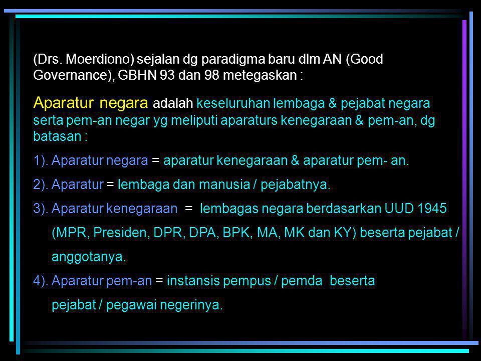 C. Sistem Penyelenggaraan Pemerintahan Negara 1. Pengertian Sistem penyelenggaraan negara : Administrasi negara Indonesia dlm arti luas, Penjelasan um