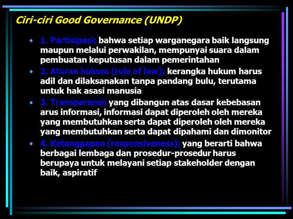 (Drs. Moerdiono) sejalan dg paradigma baru dlm AN (Good Governance), GBHN 93 dan 98 metegaskan : Aparatur negara adalah keseluruhan lembaga & pejabat