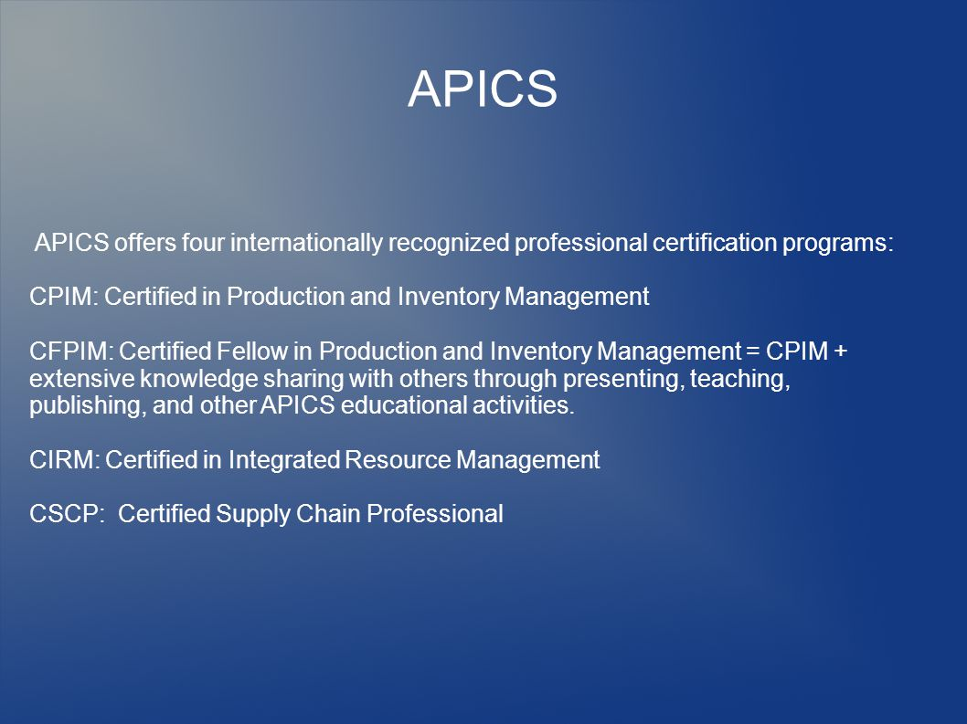 IPOMS I am a co-founder of Indonesian Production and Operations Management Society (IPOMS) – a non profit organization that manages APICS certifications in Indonesia IPOMS, International Quality Federation (IQF), and Productivity and Quality Management (PQM) Consultants in Jakarta also manage Six Sigma Quality Training and Certification in Indonesia.