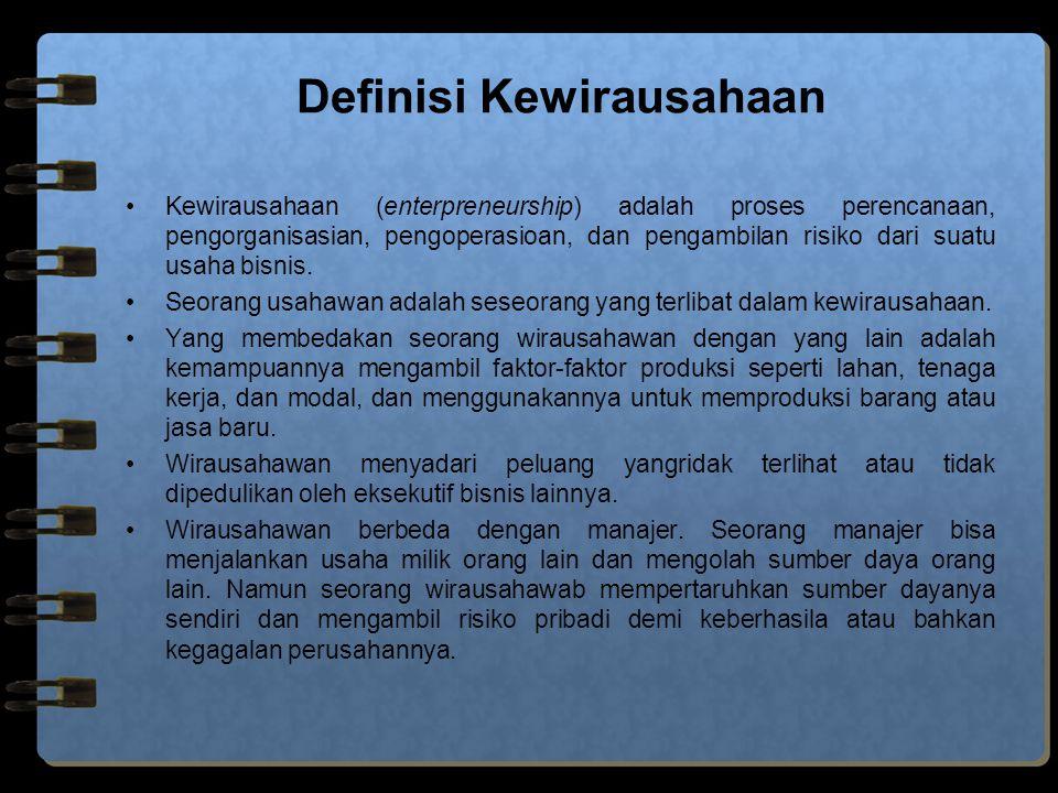 Pola Pikir dan Keahlian Wirausahawan Ada 5 karakteristik pebisnis dengan sikap pikir wirausaha : 1.Rajin dan bersemangat dalam mencari peluang baru.