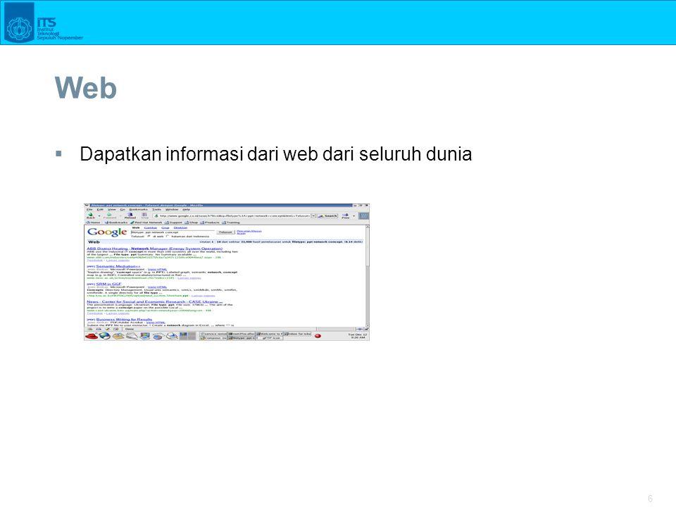 6 Web  Dapatkan informasi dari web dari seluruh dunia
