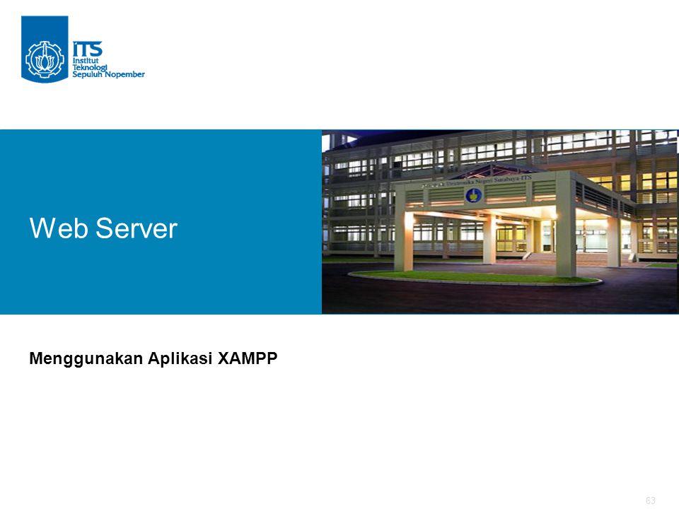 63 Web Server Menggunakan Aplikasi XAMPP