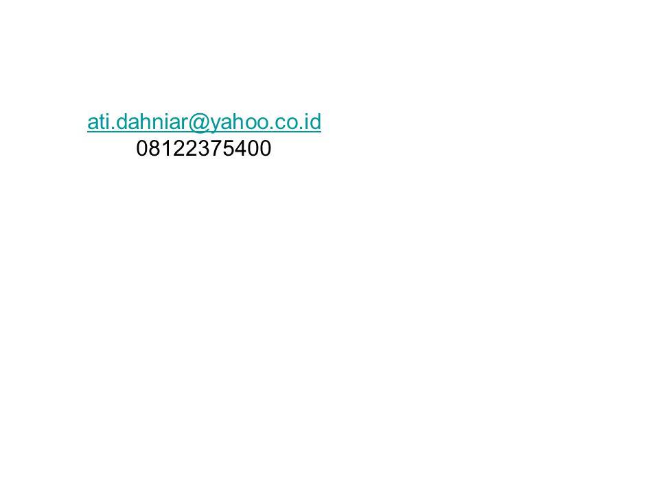 ati.dahniar@yahoo.co.id 08122375400