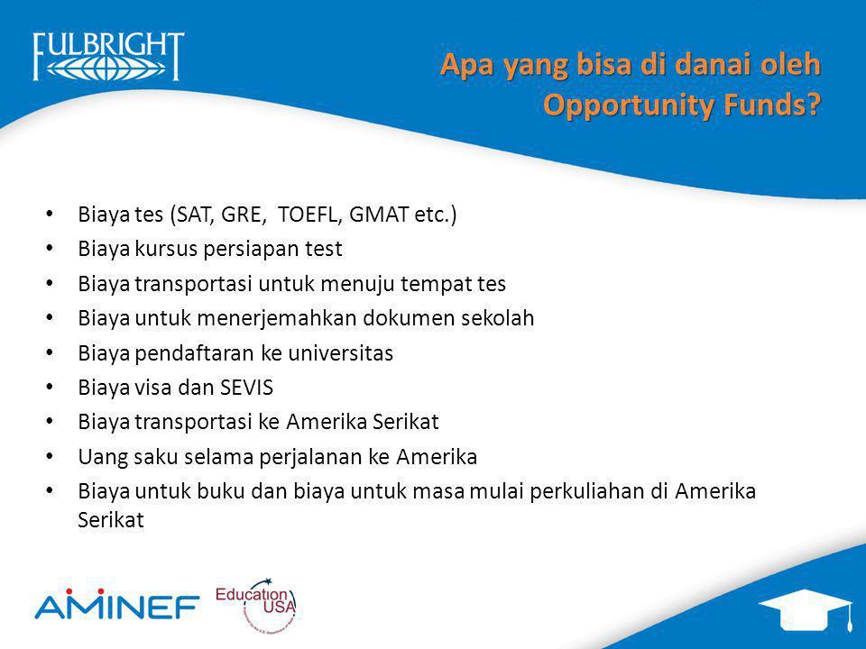 Apa yang bisa di danai oleh Opportunity Funds.