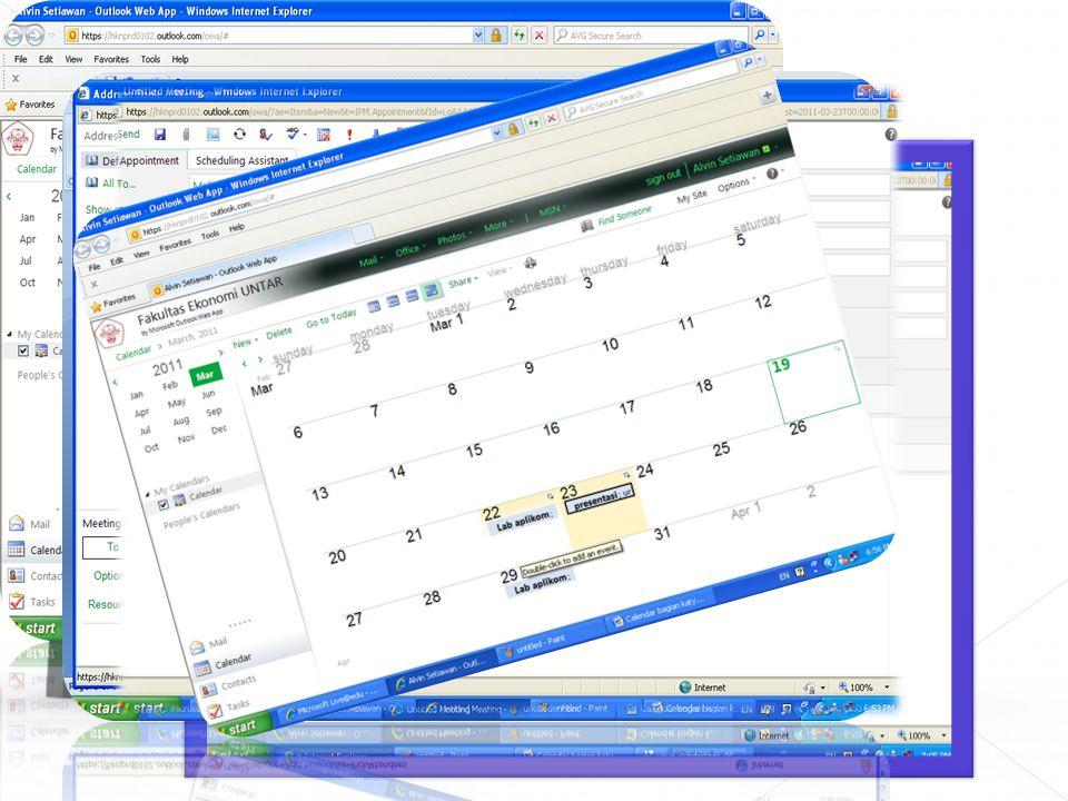 Kalender memunculkan jadwal kita jika kita mengaturnya menjadi pengingat