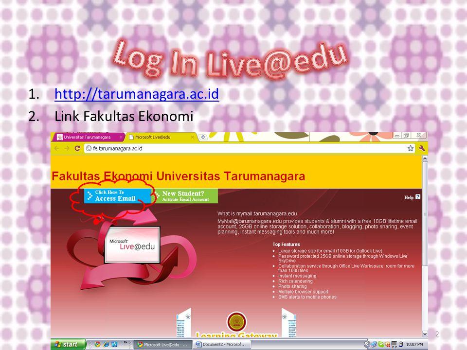 1.http://tarumanagara.ac.idhttp://tarumanagara.ac.id 2.Link Fakultas Ekonomi 2