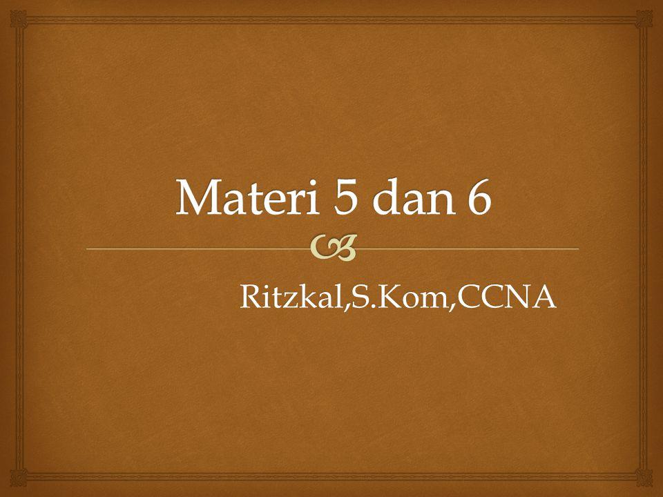 Ritzkal,S.Kom,CCNA
