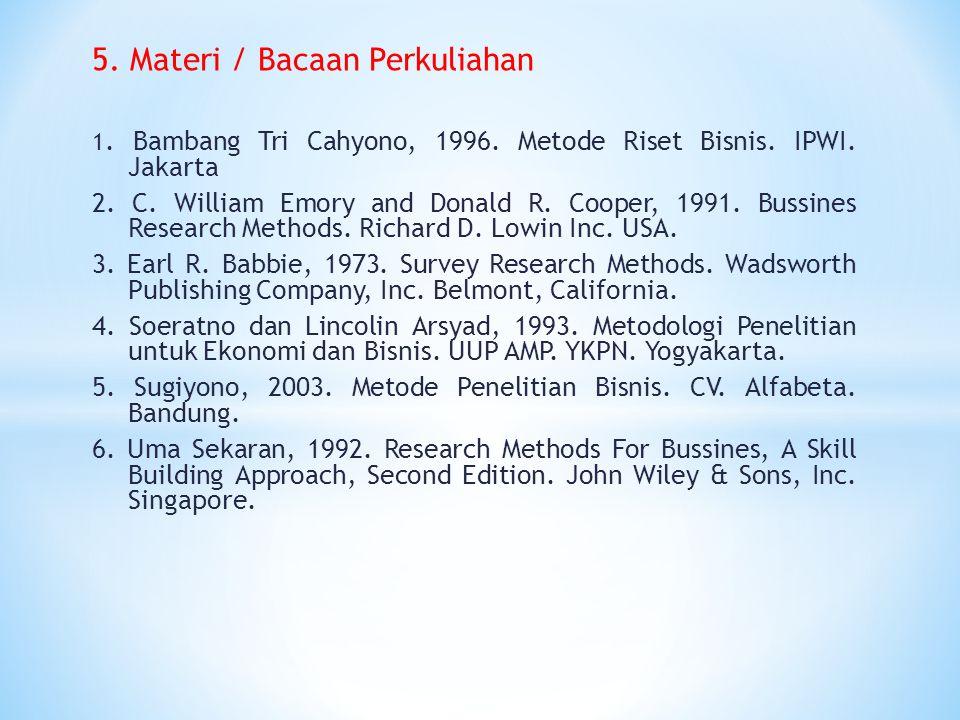 5.Materi / Bacaan Perkuliahan 1. Bambang Tri Cahyono, 1996.