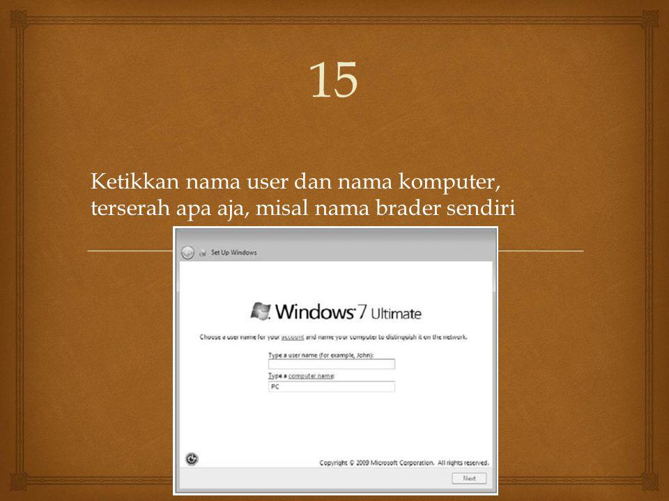 Setelah proses di atas selese komputer akan otomatis restart sendiri.