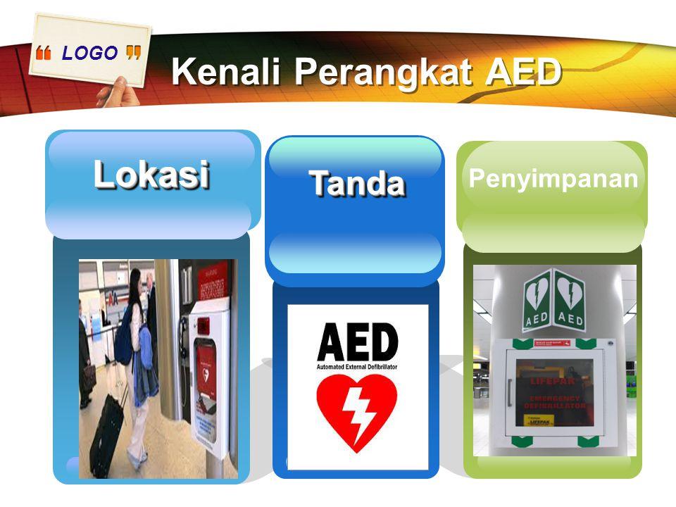 LOGO Kenali Perangkat AED LokasiLokasi Add Your Text here Penyimpanan TandaTanda
