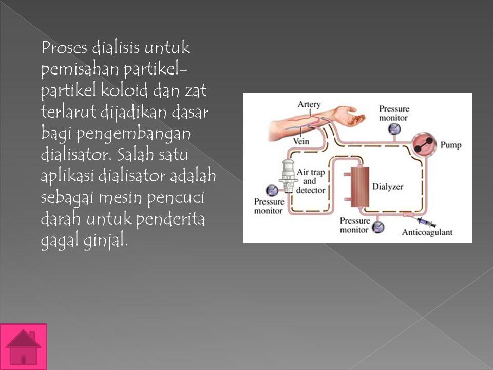  Elektroforesis dapat digunakan untuk mendeteksi muatan suatu sistem koloid. Jika koloid bergerak menuju elektroda positif maka koloid yang dianalisa