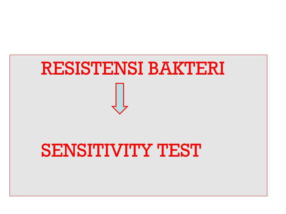 RESISTENSI BAKTERI SENSITIVITY TEST
