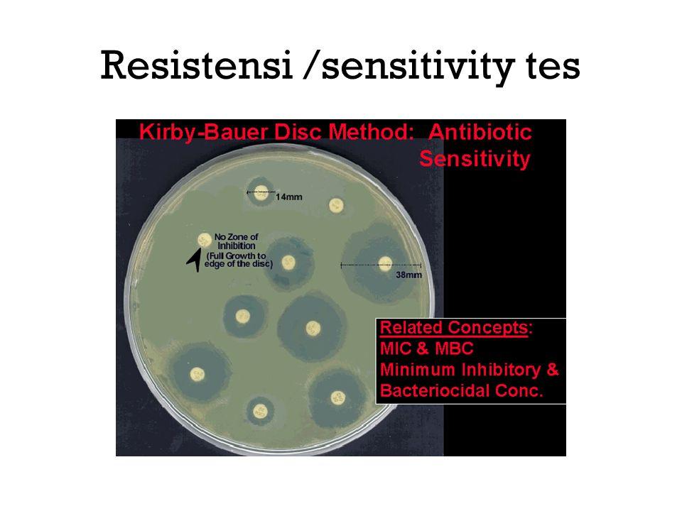 Resistensi /sensitivity tes