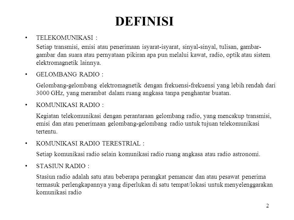 13 DAMPAK YANG TERJADI JIKA OPERATOR TIDAK MEMILIKI SERTIFIKAT: Menimbulkan gangguan dalam komunikasi radio.