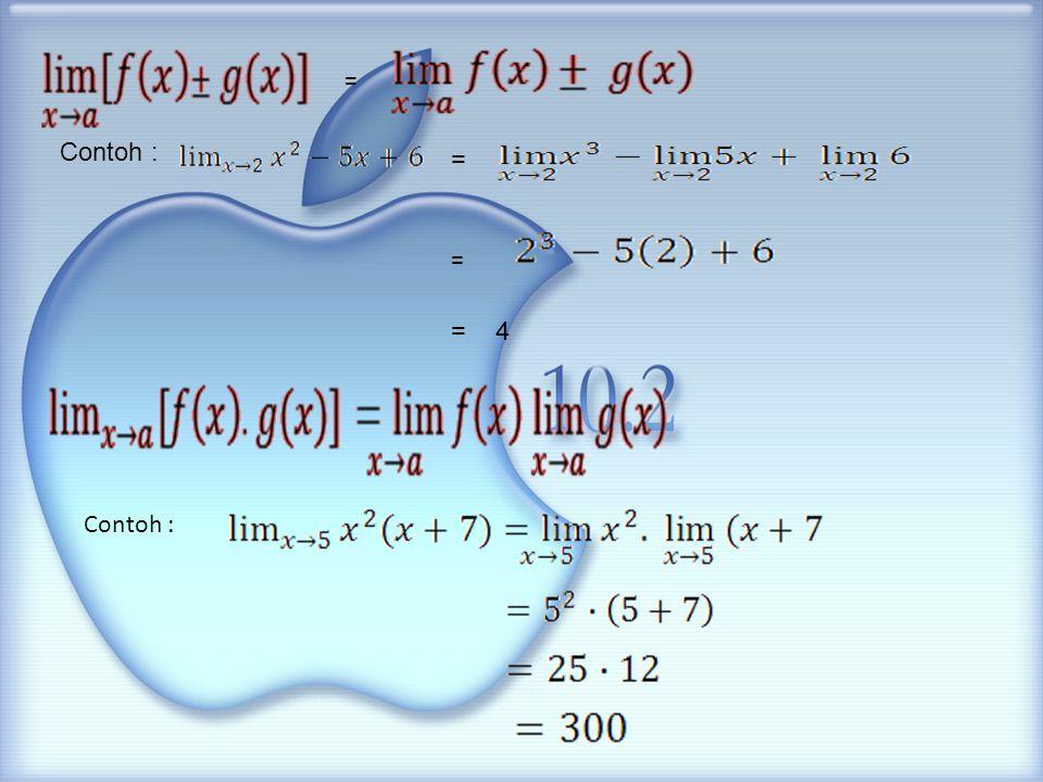 Ada berbagai cara menyelesaikan soal-soal limit fungsi Aljabar dan limit trigonometri: 1.Substitusi langsung 2.