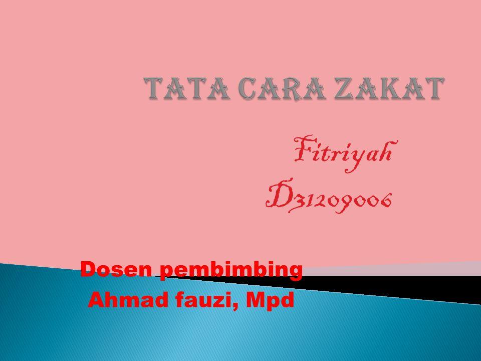 Fitriyah D31209006 Dosen pembimbing Ahmad fauzi, Mpd