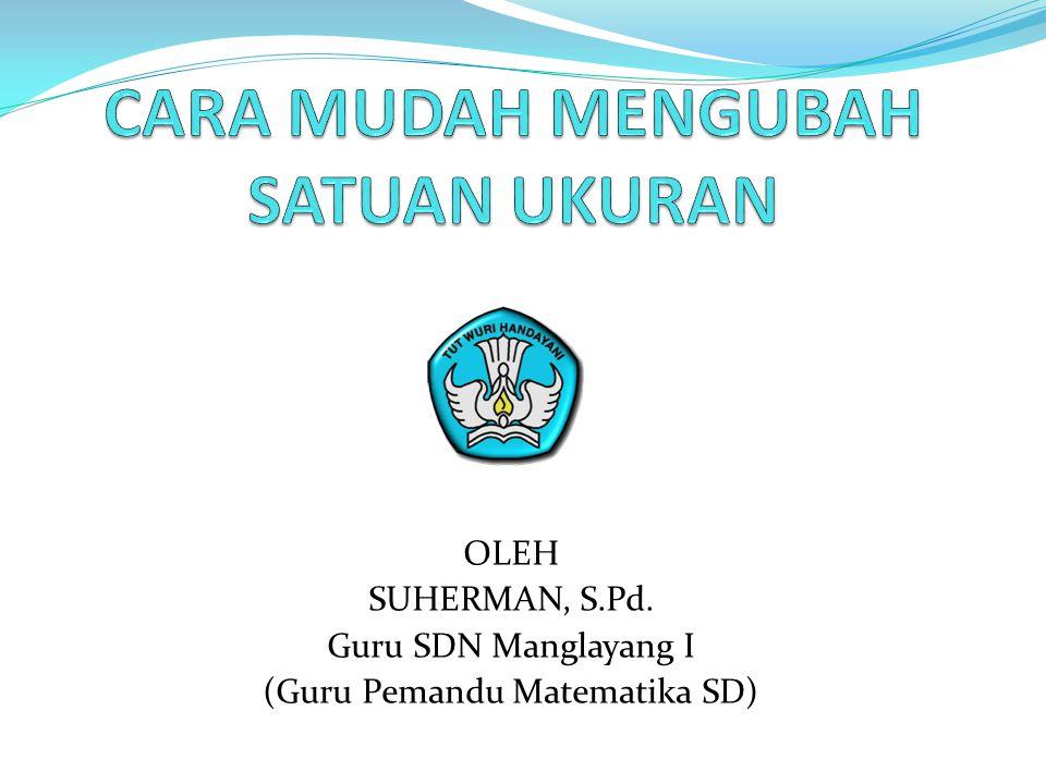 OLEH SUHERMAN, S.Pd. Guru SDN Manglayang I (Guru Pemandu Matematika SD)