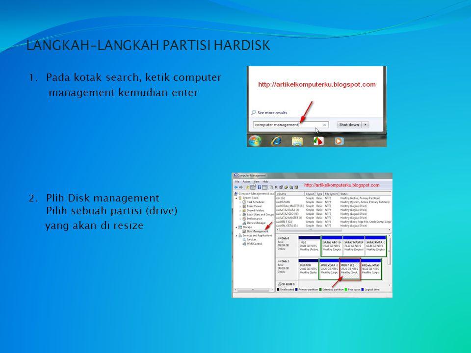 CARA MEMBUAT PARTISI HARDISK SMKN 1 BatangHari X TKJ ( Teknologi Komputer dan Jaringan) email : yyogiyaspranika8@yahoo.com