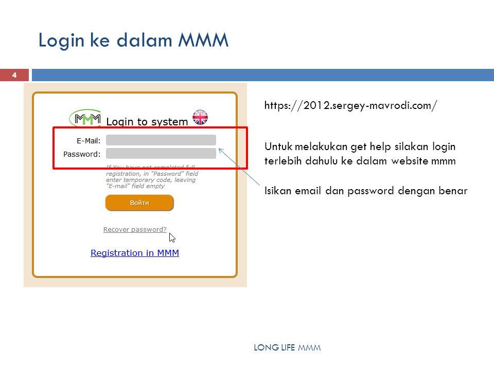Login ke dalam MMM LONG LIFE MMM 4 https://2012.sergey-mavrodi.com/ Untuk melakukan get help silakan login terlebih dahulu ke dalam website mmm Isikan email dan password dengan benar