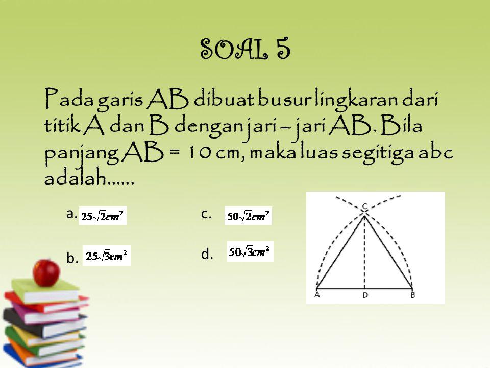 Luas segitiga 84 cm2 dengan panjang sisinya berturut – turut 13 cm dan 14 cm. Jika panjang jari – jari dalamnya adalah 4 cm, panjang jari – jari lingk