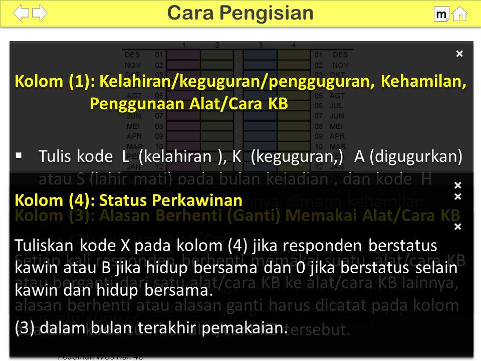 Contoh 1: Ibu Marni Bulan wawancara : Juli 2012.Berstatus menikah sejak :Januari 2006.