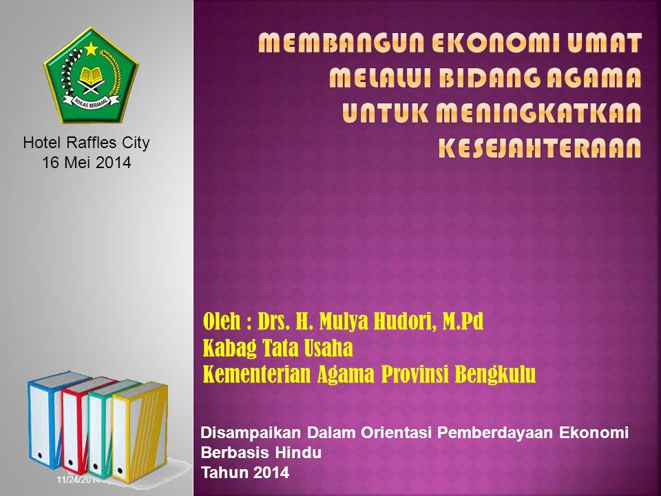 11/24/2014 Oleh : Drs. H.