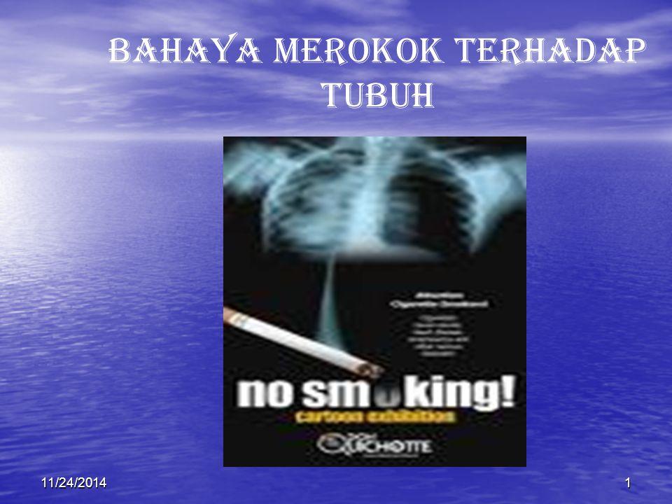11/24/20141 BAHAYA MEROKOK TERHADAP TUBUH