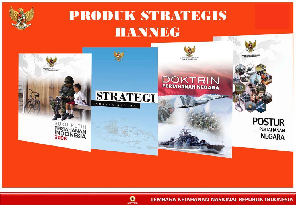 PRODUK STRATEGIS HANNEG LEMBAGA KETAHANAN NASIONAL REPUBLIK INDONESIA