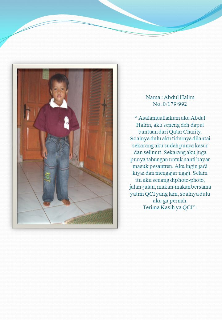 Nama : Abdul Halim No.
