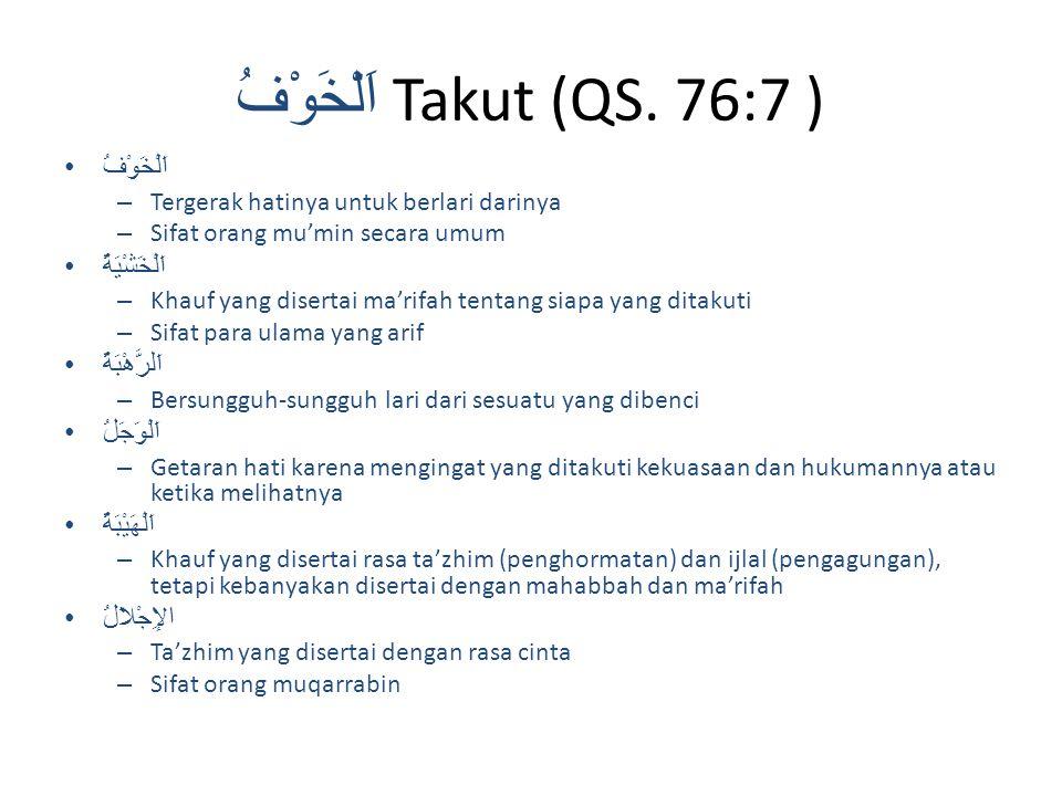 اَلْخَوْفُ Takut (QS.