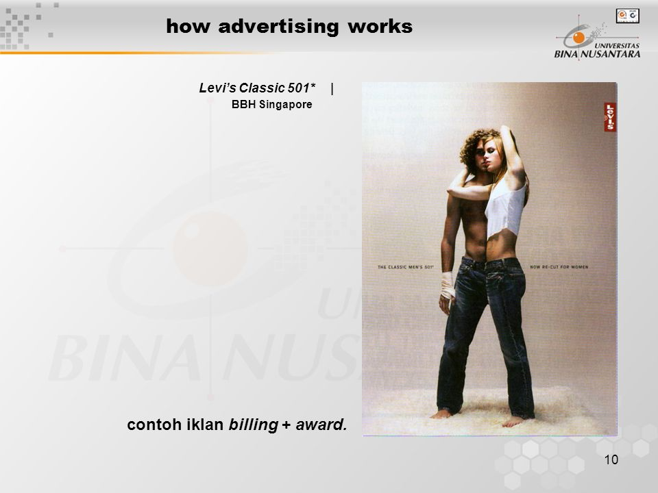 10 how advertising works Levi's Classic 501* | BBH Singapore contoh iklan billing + award.