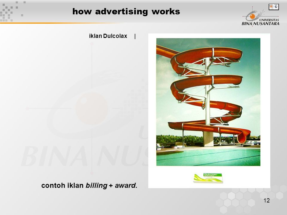 12 how advertising works iklan Dulcolax | contoh iklan billing + award.