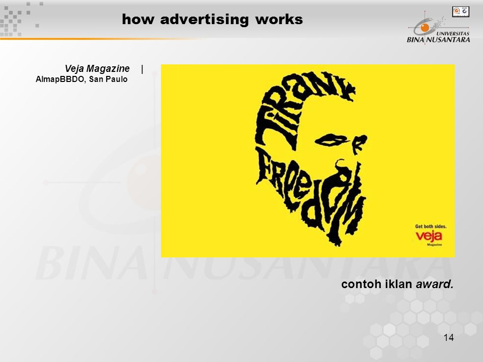 14 how advertising works Veja Magazine | AlmapBBDO, San Paulo contoh iklan award.